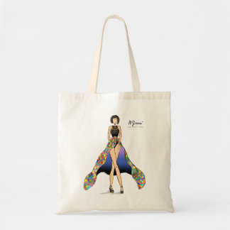 Stained Glass Fashion Sketch Tote Bag