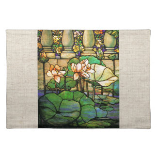 Stained Glass Faux Linen Place Mat Cloth Place Mat