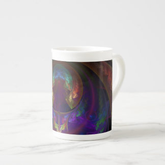 Stained Glass Flames Bone China Teacup Tea Cup