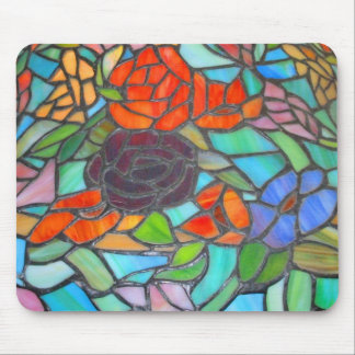 Stained Glass Floral Mousepad