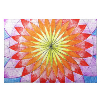 Stained Glass Floral Sketch Place Mats