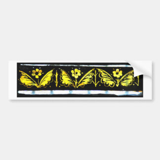 stained glass florals bumper stickers
