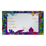 Stained Glass & Flower Border Business Card