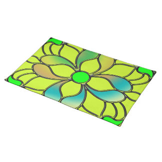 Stained Glass Flower Place Mats