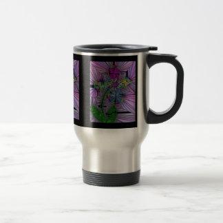 Stained Glass Flower Travel Mug