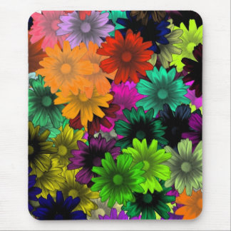 Stained glass flowers mouse mat