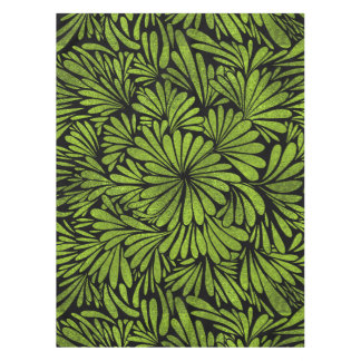 Stained Glass  Foil Flower Swirl Lime Tablecloth