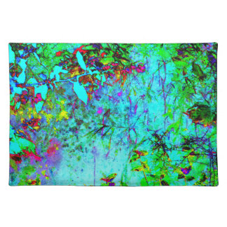 Stained Glass Garden Magic Art Photo Fabric Print Placemats