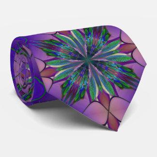 Stained Glass Gardenia Tie