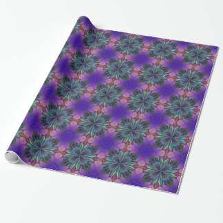 Stained Glass Gardenia Wrapping Paper