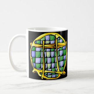 Stained Glass Gemini Coffee Mug