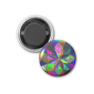 Stained Glass (Geometric Design) Magnet