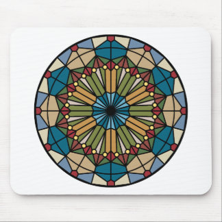 stained glass geometric pattern design modern mouse pad