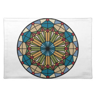stained glass geometric pattern design modern placemats