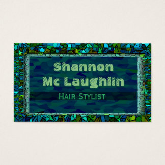 Stained Glass Glitter Business Card