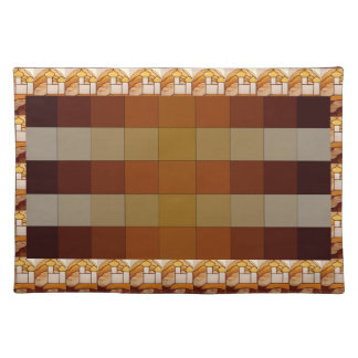Stained Glass Gold Palace Picnic Placemat 10 Cloth Placemat