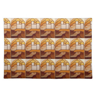 Stained Glass Gold Palace Picnic Placemat 2