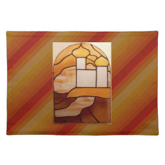 Stained Glass Gold Palace Picnic Placemat 5