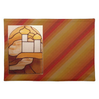 Stained Glass Gold Palace Picnic Placemat 6