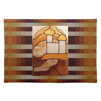 Stained Glass Gold Palace Picnic Placemat 9