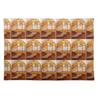 Stained Glass Gold Palace Picnic Placemat