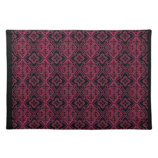 Stained Glass Gothic Purple Black Place Mat