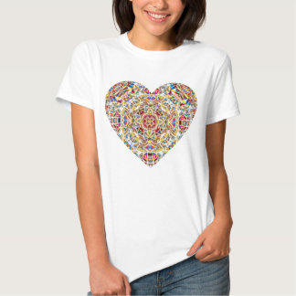 Stained Glass Heart Tee Shirt
