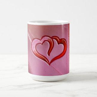 Stained Glass Hearts Coffee Mug