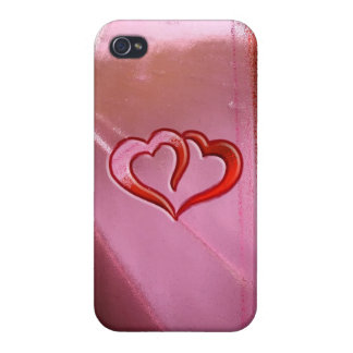 Stained Glass Hearts iPhone 4 Case