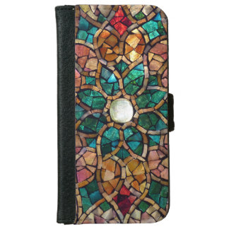 "Stained Glass iPhone 6 Wallet Case ""Autumn Star"""