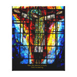 stained glass Jesus Gallery Wrapped Canvas