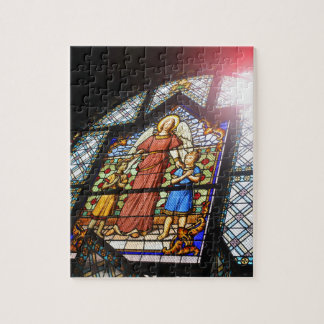 Stained glass jigsaw puzzle