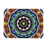 Stained Glass Kaleidoscope #2 Rectangle Magnet