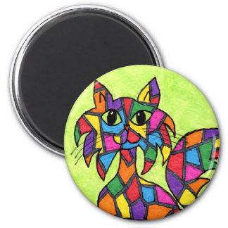 Stained Glass Kitty Magnet