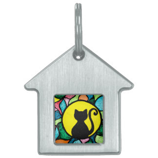 Stained Glass Kitty Pet Tag