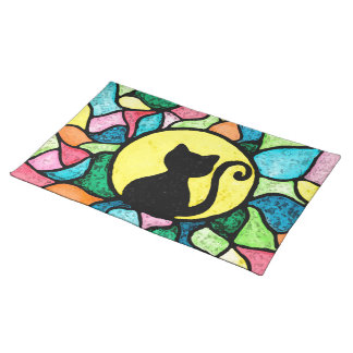 Stained Glass Kitty Placemats