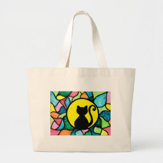 Stained Glass Kitty Tote Bag