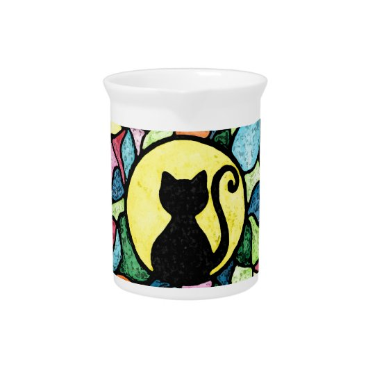 Stained Glass Kitty Watercolour Pitcher