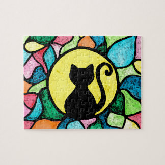 Stained Glass Kitty Watercolour Puzzle
