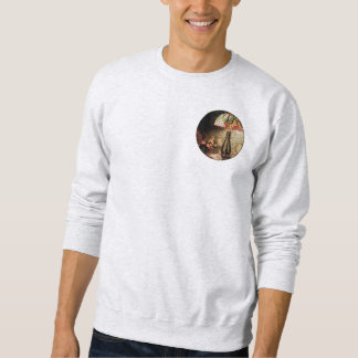 Stained Glass Lamp and Vase of Flowers Pull Over Sweatshirt