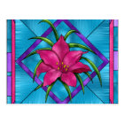 Stained Glass Lilly Postcard