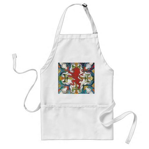 Stained Glass Lion Crest Apron
