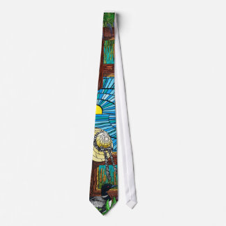 Stained glass loon tie