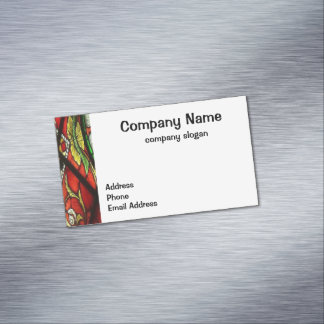 Stained Glass Magnetic Business Cards