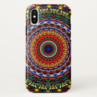 Stained Glass Mandala iPhone X Case