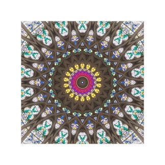 Stained Glass Mandala Kaleidoscope Pattern Canvas Print