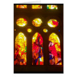 Stained Glass Merry Christmas Greeting Card