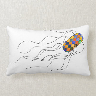 Stained glass microbe pillow