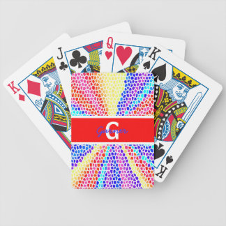 Stained Glass Monogram Bicycle Playing Cards