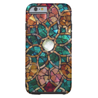 "Stained Glass Mosaic ""Autumn Star"" iPhone 6 Case"